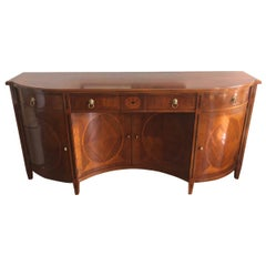 Resplendent Large Russian Neoclassical Serpentine Sideboard