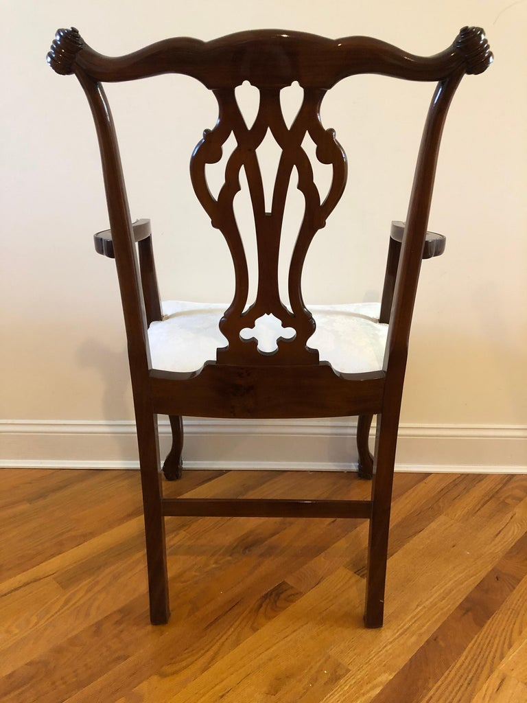 Argentine Resplendent Set of 10 Chippendale Style Dining Chairs For Sale