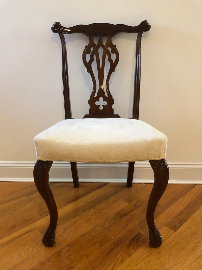 Resplendent Set of 8 Chippendale Style Dining Chairs 5
