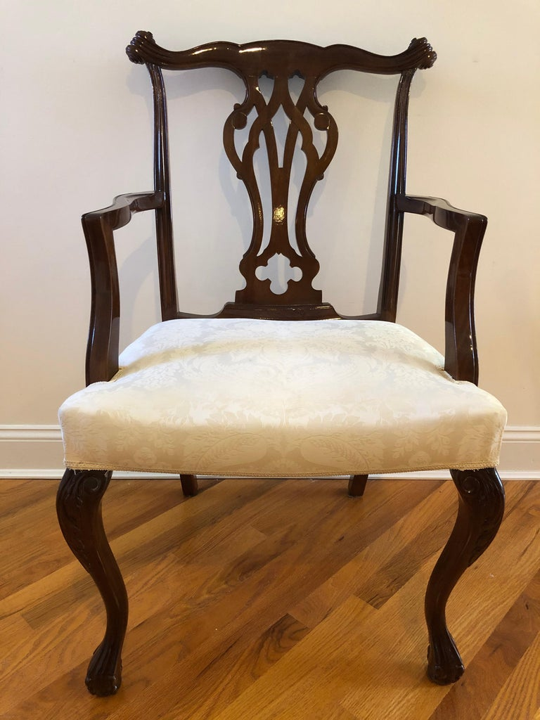 Hardwood Resplendent Set of 8 Chippendale Style Dining Chairs