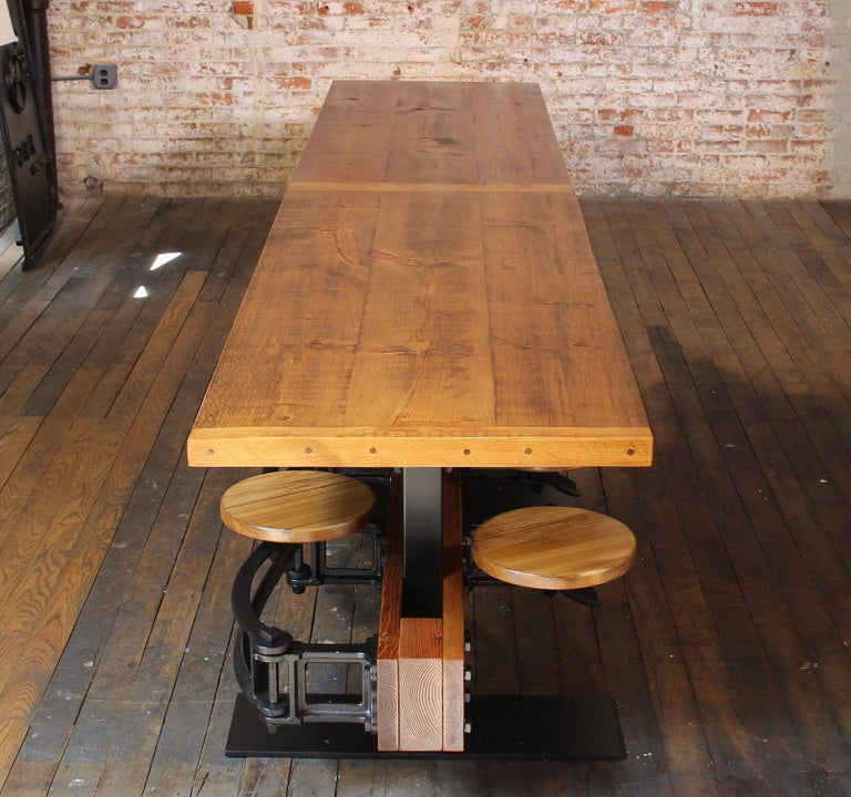 Diner Tables For Sale: Restaurant Dining Table With Attached Swing Out Seats For
