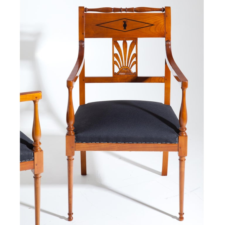 French Restauration Armchairs, France 19th Century For Sale