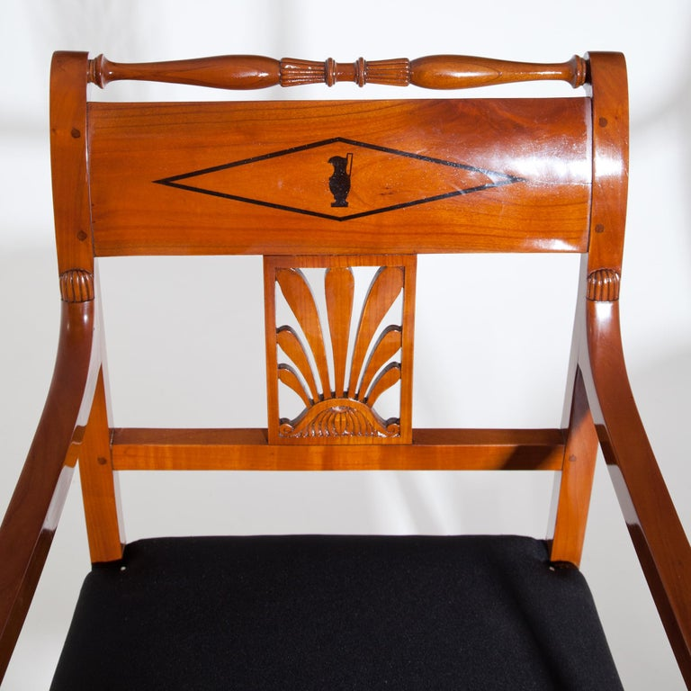Restauration Armchairs, France 19th Century In Good Condition For Sale In Greding, DE