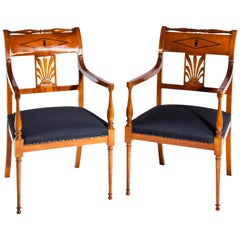 Restauration Armchairs, France 19th Century