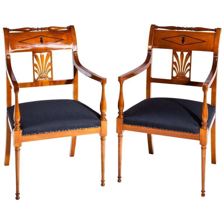 Restauration Armchairs, France 19th Century For Sale