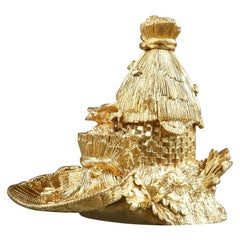 Restauration Gilt Bronze Inkwell, Hive Design