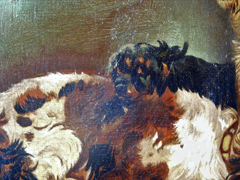 Resting Terriers, Oil Painting on Canvas, British School of Sporting Art For Sale 1