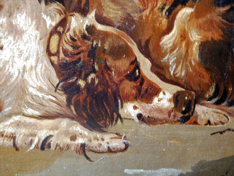 Resting Terriers, Oil Painting on Canvas, British School of Sporting Art For Sale 3
