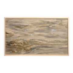 "Restless Ocean Waters Extraordinary Natural Stone ""Painting"", One of a Kind"
