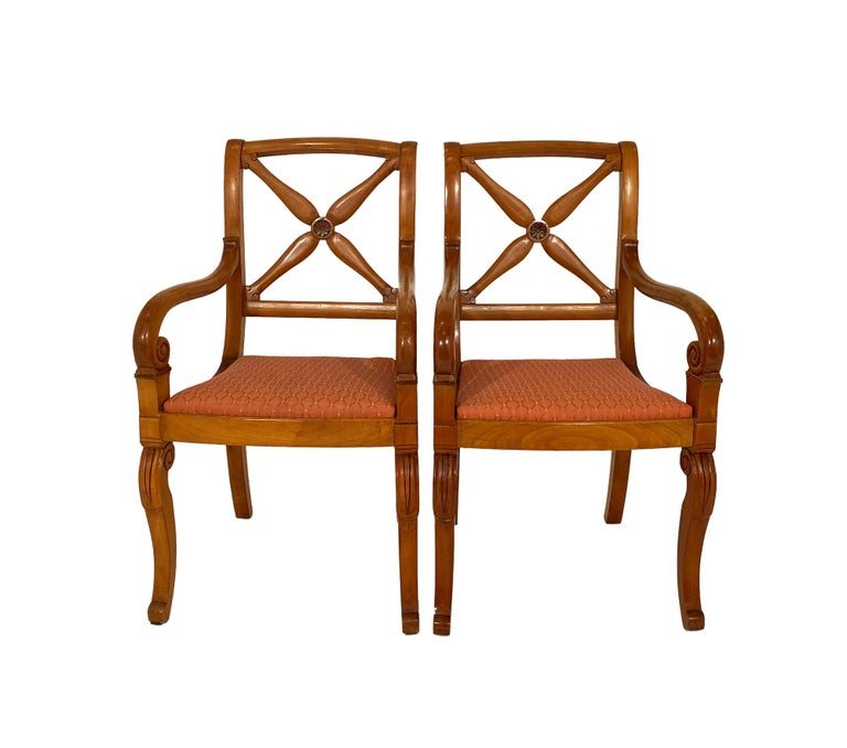 Restauration Restoration Dining Chairs with Armchairs For Sale