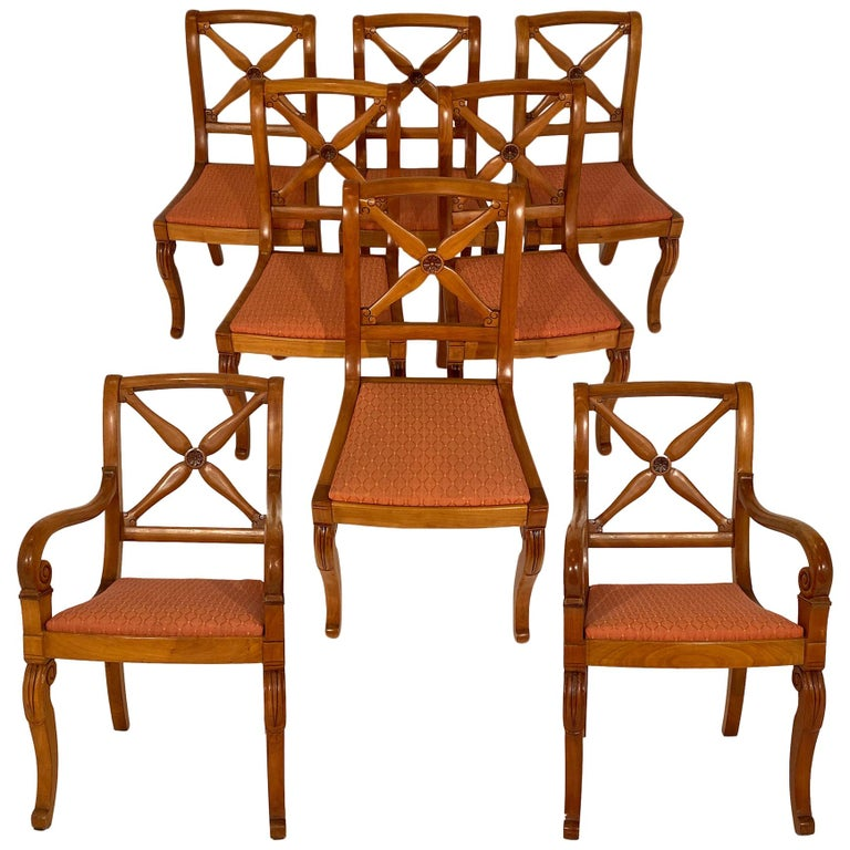 Restoration Dining Chairs with Armchairs For Sale