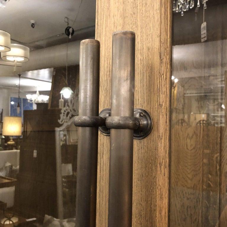Restoration Hardware Display English Brass Bar Pull Glass