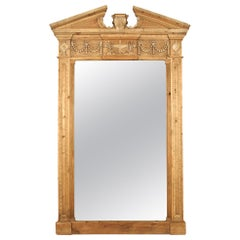 Restoration Hardware Hand Carved Entablature Leaner Mirror
