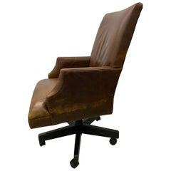 Restoration Hardware Leather 5 Star Armchair, Adjustable