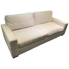 Restoration Hardware Maxwell Sofa in White Linen Slipcover