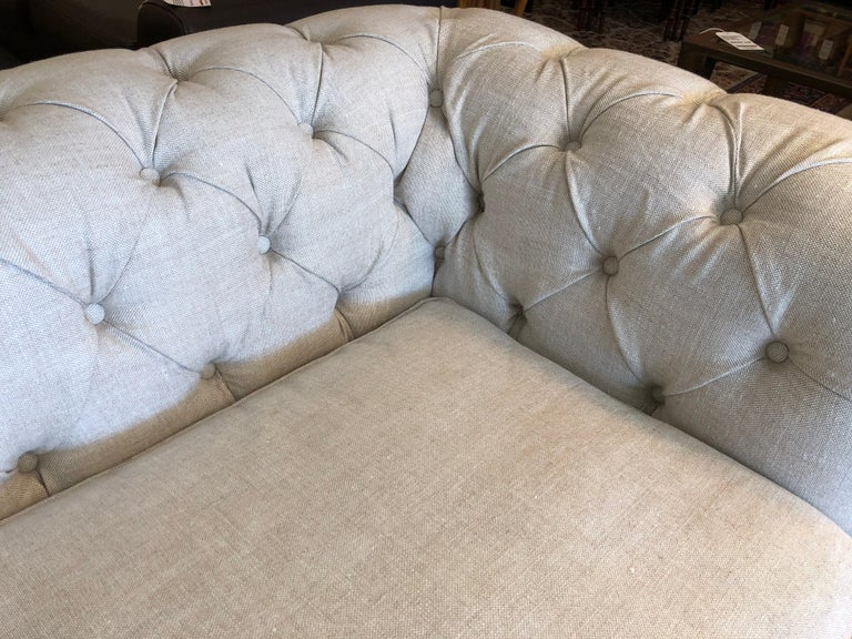 Restoration Hardware Timothy Oulton Kensington Fabric Sofa For Sale 6