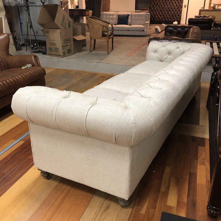 Design Plus Gallery presents fabulous Kensington sofa by Restoration Hardware. Designed by Timothy Oulton, inspired by the Classic Chesterfield . The upholstery still evokes the style the grand gentlemen's club tradition. Deep hand-tufting and