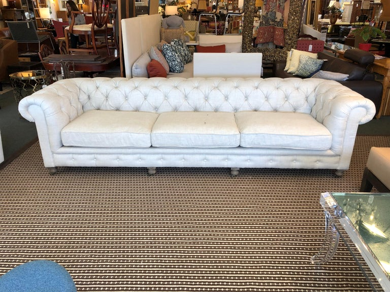 Restoration Hardware Timothy Oulton Kensington Fabric Sofa In Good Condition For Sale In San Francisco, CA
