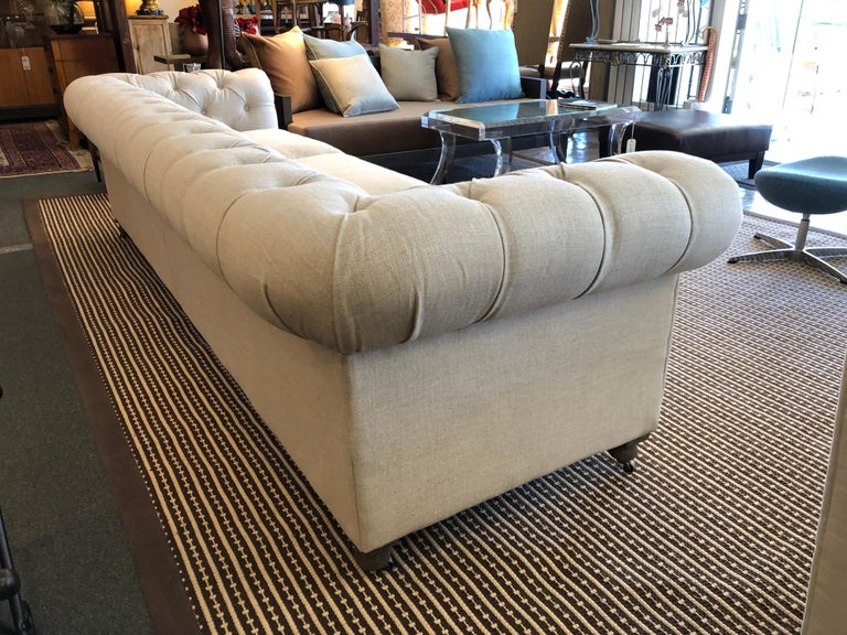 Contemporary Restoration Hardware Timothy Oulton Kensington Fabric Sofa For Sale