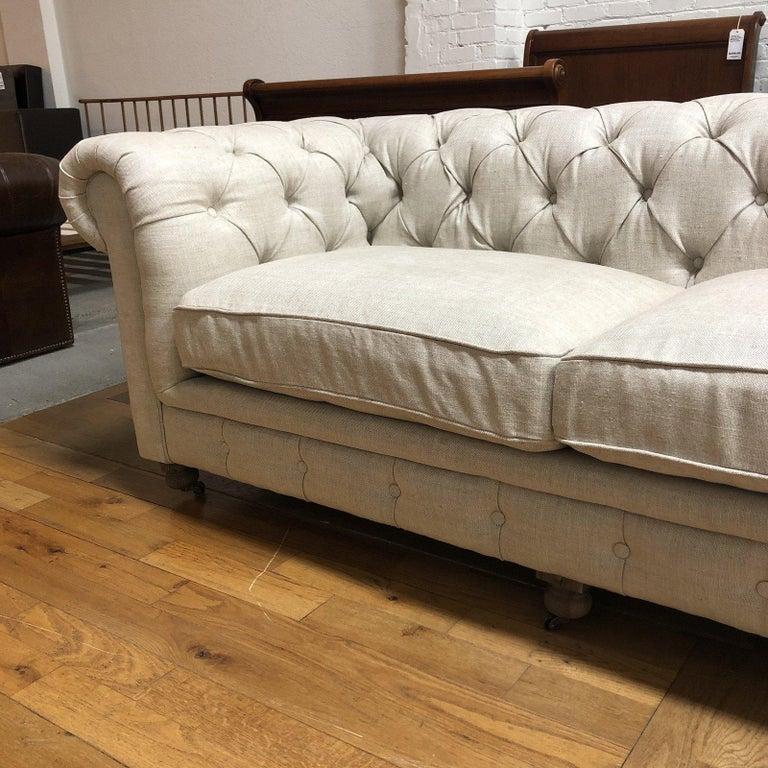 Restoration Hardware Timothy Oulton Kensington Fabric Sofa For Sale 1