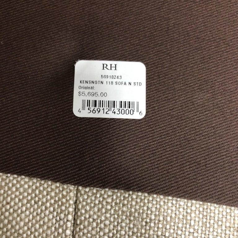Restoration Hardware Timothy Oulton Kensington Fabric Sofa For Sale 3