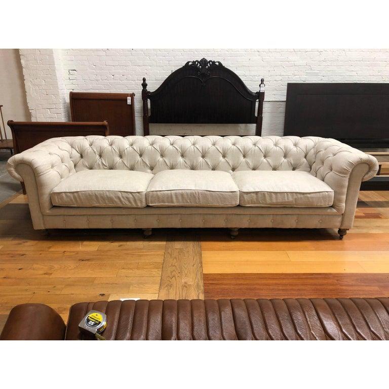 Restoration Hardware Timothy Oulton Kensington Fabric Sofa For Sale 4