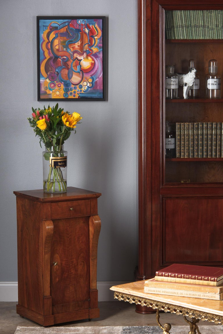 French Restoration Period Walnut Bedside Cabinet, 1820s For Sale 9