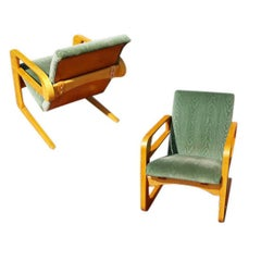 Restored 1938 K.E.M. Weber The Airline Chair  for Walt Disney, Pair