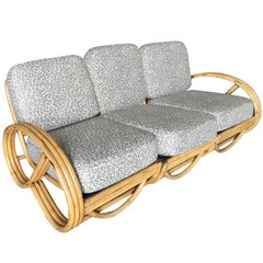 Restored 3/4 Round Pretzel Sofa Sectional with Arched Base