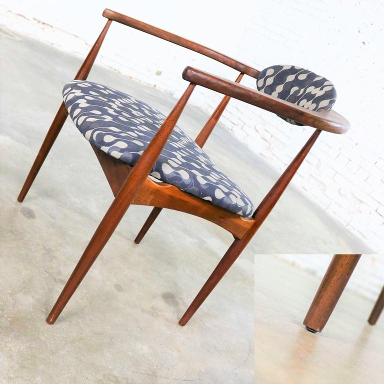 Fabric Restored Adrian Pearsall 950-C Armed Side Chair
