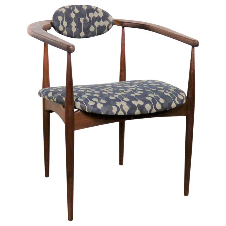 Restored Adrian Pearsall 950-C Armed Side Chair
