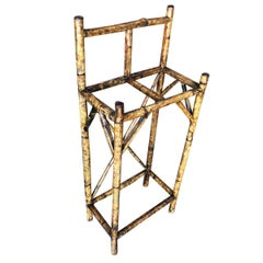 Restored Aesthetic Movement Two Slot Antique Tiger Bamboo Umbrella Stand