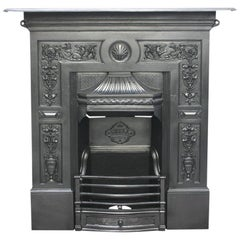 Restored Antique Late 19th Century Victorian Cast Iron Fireplace