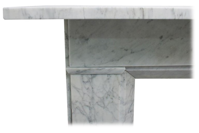 Mid-19th Century Restored Antique Victorian Carrara Marble Fireplace Surround For Sale