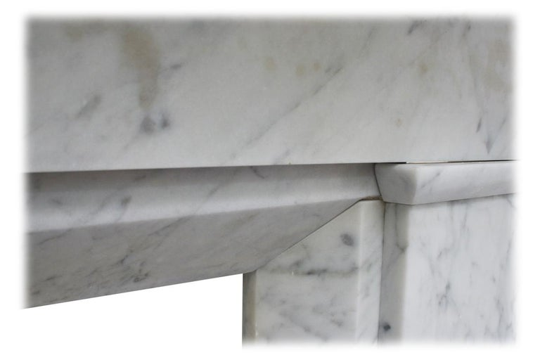 Restored Antique Victorian Carrara Marble Fireplace Surround For Sale 1