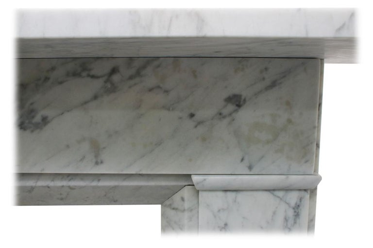 Restored Antique Victorian Carrara Marble Fireplace Surround For Sale 2