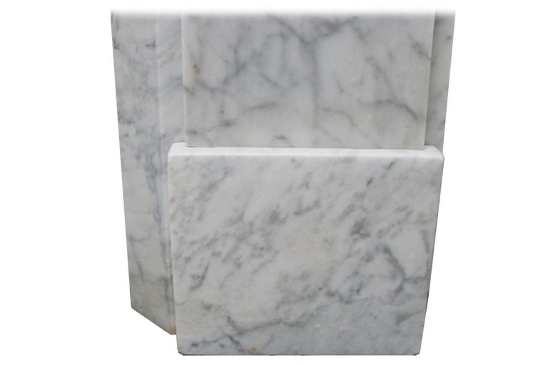Restored Antique Victorian Carrara Marble Fireplace Surround For Sale 3