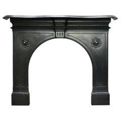 Restored Antique Victorian Cast Iron Fire Surround