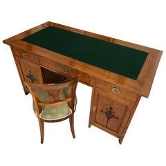 Restored Art Nouveau Designer Desk from 1930-1940