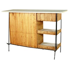 Restored Arthur Umanoff Mid-Century Modern Cocktail Bar