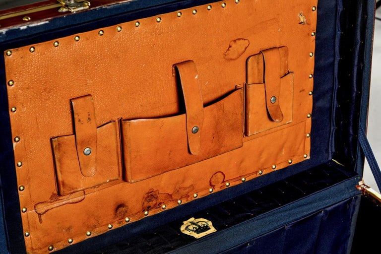 Restored Brass and Leather English Grenadiers Trunk with Regimental Ornaments For Sale 6