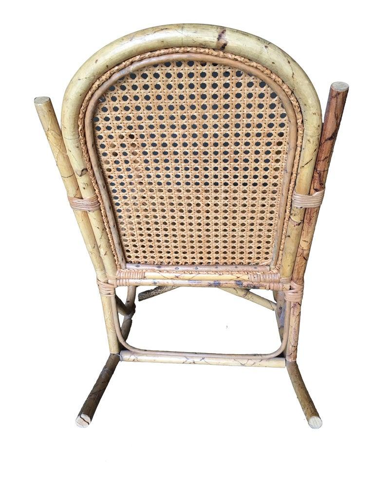 Magnificent Restored Child Size Rattan Rocking Chair With Wicker Seat Machost Co Dining Chair Design Ideas Machostcouk