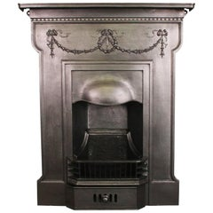 Restored Classical Edwardian Cast Iron Bedroom Fireplace