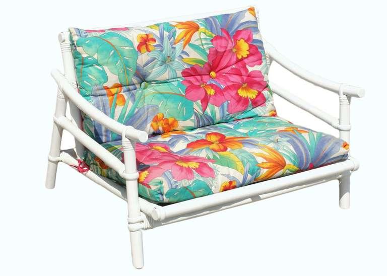 Restored complete milo baughman childs rattan living room - Rattan living room furniture for sale ...