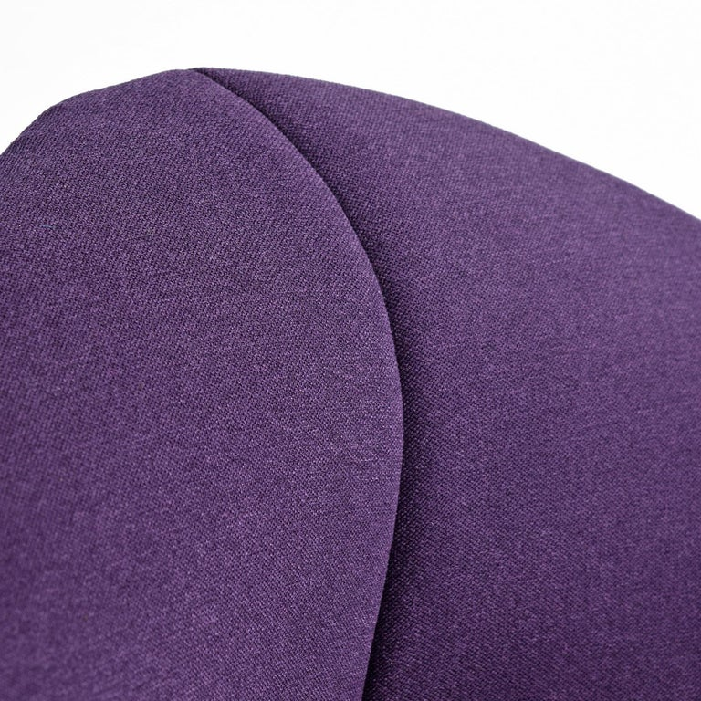 Diamond Chair by Harry Bertoia for Knoll, Full Cover Plum Knoll Tweed In Excellent Condition For Sale In Chattanooga, TN
