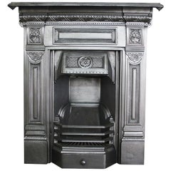 Restored early 20th Century cast iron bedroom fireplace