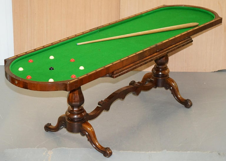 Restored Early Victorian Hardwood Bagatelle Table Ornately Carved Pub Games For Sale 9
