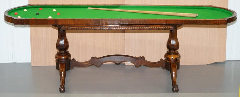 Restored Early Victorian Hardwood Bagatelle Table Ornately Carved Pub Games For Sale 10