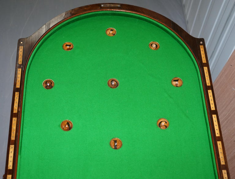 Restored Early Victorian Hardwood Bagatelle Table Ornately Carved Pub Games For Sale 13