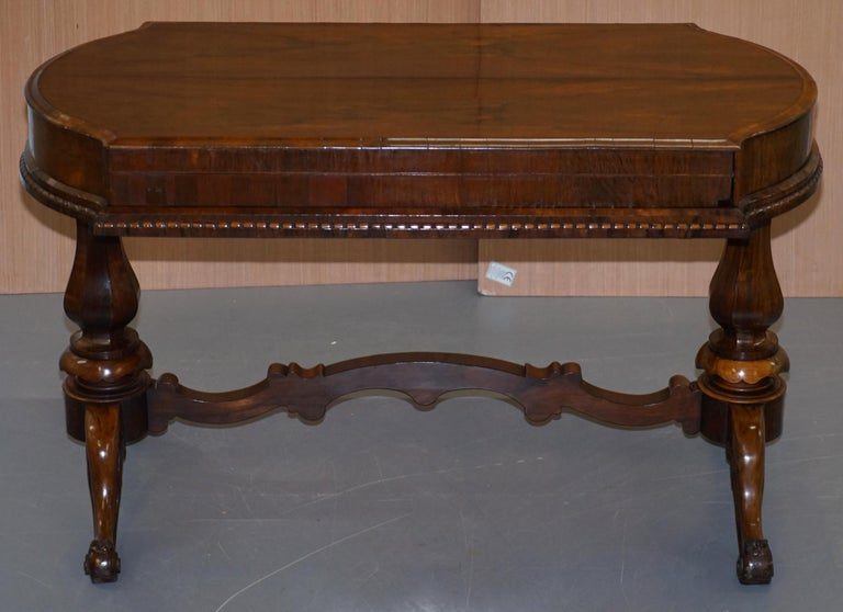 English Restored Early Victorian Hardwood Bagatelle Table Ornately Carved Pub Games For Sale